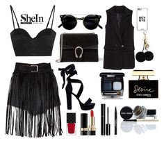 """""""All black"""" by a-z07 ❤ liked on Polyvore featuring Michael Lo Sordo, Gucci, Dolce&Gabbana, Chanel and Trish McEvoy"""