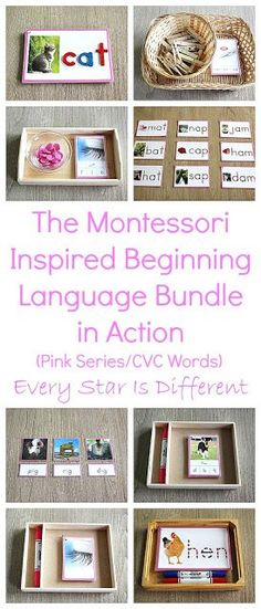 "The post ""The Montessori-inspired Beginning Language Bundle in Action (Pink Series/CVC Words) & Every Star Is Different"" appeared first on Pink Unicorn Kindergarten Montessori Kindergarten, Montessori Homeschool, Montessori Elementary, Preschool Curriculum, Montessori Activities, Preschool Lessons, Math Lessons, Spelling Activities, Toddler Learning Activities"