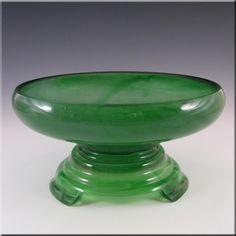 Glass Davidson ? A Vintage Art Deco Satin Glass Bowl