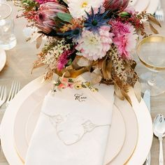 Lovely menu and napkin idea