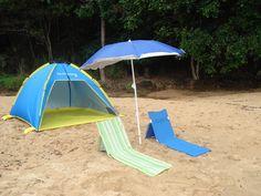 Large Shelta UV Tent with Foldabrella beach umbrella plus 2 beach chairs & Pinterest u2022 The worldu0027s catalog of ideas