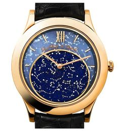 Van Cleef & Arpels Midnight in Paris Watch #VanCleef #Paris #Astronomy