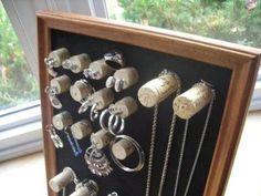 diy accessories holder: wine corks