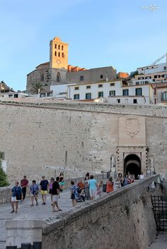 Ibiza Town castle leading to La Toretta, the older part of the town. So much history. It's my fave place in the world.