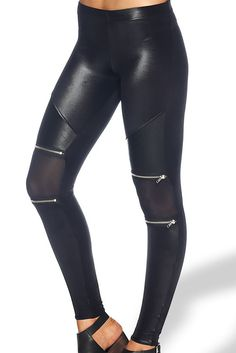 Black Milk Counterculture Leggings - I love Black Milk's patterns but mesh and zippers are almost better (aaannnddd sold out)