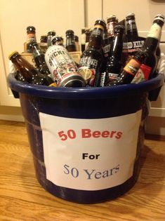 birthday gift for your guy- have separate tub just for him with 30 beers in it!