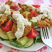 Vegan Falafel (Gluten Free) & Tzatziki Sauce (Dairy Free, Raw) | The Vedge – Vegan & Gluten Free Recipes