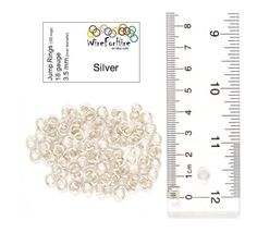 Handmade Jump Rings - 3.5 mm inner diameter - 18 gauge enameled copper - Silver. Great for jewelry and chainmail.