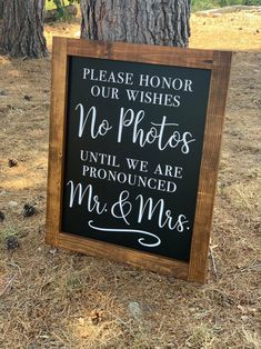 Let your guest know you'd like them to focus on your big moment.not capturing a picture with this chalkboard sign. These are handmade chalkboard signs with vinyl decals. LARGE SIGN: Frame: x Chalkboard: x SMALL SIGN: Frame: x Chalkboard: x *Signs are Before Wedding, Wedding Tips, Wedding Planning, Gown Wedding, Wedding Cakes, Wedding Dresses, Lake Wedding Ideas, Summer Wedding Ideas, Outdoor Rustic Wedding Ideas