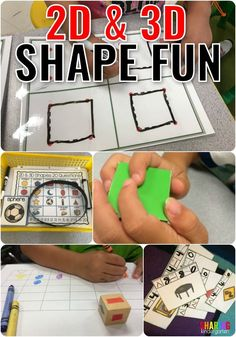 2D and 3D Shape Fun for Little Learners - Sharing Kindergarten