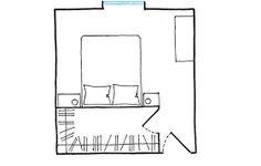 Resultado de imagen de cabina armadio camera piccola quadrata