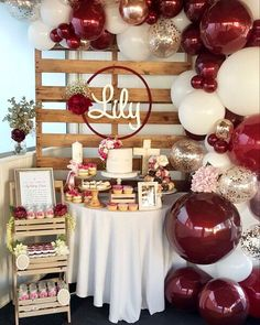 Bridal Shower Decorations Centerpieces - New ideas Balloon Decorations, Birthday Party Decorations, Wedding Decorations, Balloon Garland, Baby Shower Themes, Baby Shower Decorations, 18th Birthday Party, Girl Birthday, Birthday Ideas