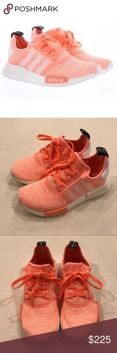 Adidas NMD Runner Sneakers Adidas NMD Runner Sneakers -Style: BY3034 GLO -Color: Sun Glow, White, Haze Coral -Upper: Suede, neoprene -Midsole: Boost cushioning, EVA plugs -Outsole: Rubber -Size: 8 (feels like 8.5)  NEW IN BOX. Authentic Women's Adidas NMD Runner shoes/sneakers. Purchased from Finish Line (receipt shown will NOT be included with your purchase).   alyssacarrick Adidas Shoes Sneakers