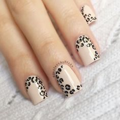 My forever go to I gave my nails a bit of a trim but luckily leopard print Fancy Nails, Diy Nails, Cute Nails, Pretty Nails, Leopard Print Nails, Leopard Nail Art, Leopard Print Tattoos, Leopard Prints, Nail Deco