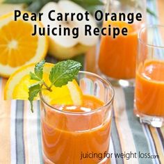 If you love carrot juice, you will love it even more when you add in the sweet decadent flavor of pear and slight sour of orange.