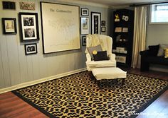 Stenciled Rug Tutorial from Creatively Living