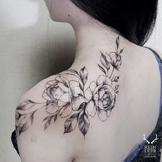 charming flower tattoos