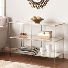 inject hollywood style in your home with the knox console table from southern enterprises its