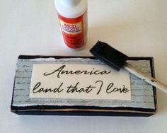 Free 4th of July Craft Idea - Patriotic Quotes