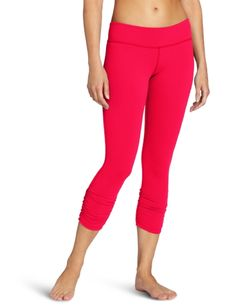 Beyond Yoga Essential Gathered Leggings, Neon Berry, XX-Small