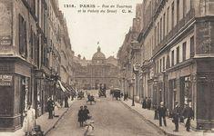 rue de Tournon - Paris 6ème - Autre vue de la rue de Tournon et le Sénat, au carrefour avec la rue Saint-Sulpice, vers 1900.