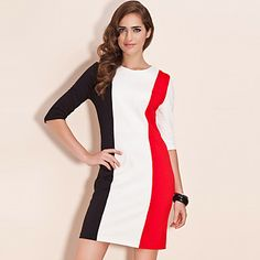 TS Color Block Sheath Dress – USD $ 23.99