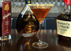 Maple Syrup Cocktails - if you like Bourbon, this Makers Mark and Maple concoction is for you!
