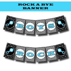 Rock n Roll Rock a Bye Baby Shower or Birthday Printable Invite and Party Supplies. $22.00, via Etsy.