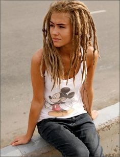 Entertaining Naked emo girl blonde dreadlocks