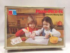 Vintage Tupperware Toys Mini Mix It Play Set 1979 Complete #Tupperware