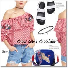 Shimmy, Shimmy: Off-Shoulder Tops by svijetlana on Polyvore featuring moda, BERRICLE, shein and showsomeshoulder