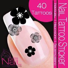 Nail Art Tattoo Sticker Cherry Blossom - black by Sticker-Gigant Nail Tattoos, http://www.amazon.com/dp/B0060PGZLM/ref=cm_sw_r_pi_dp_1jVnqb15NPMBC