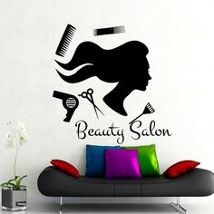 Beauty Salon muur Stickers Hair Salon Decal Fashion door CozyDecal