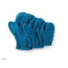 A warm gift, the Textured Family mittens can be stitched for the whole family! Knit easily in Caron One Pound yarn, to fit kids and adults. One ball of Caron One Pound can make up to ten pairs of mittens!| Yarnspirations |Free Easy Charity Mittens Knit Pattern