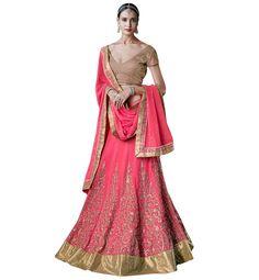 SUPERBLY DESIGNED PINK LEHENGA SAREE NKGR5054 – Stylish Bazaar