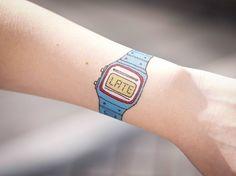 Watch tattoo