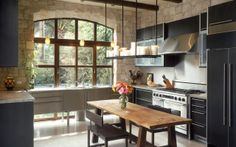 Albertini's Wood Window in the kitchen