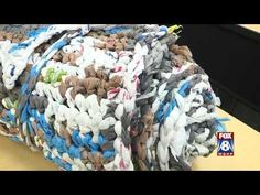 This short video demonstrates how to make a 'rag' rug, using carrier bags. Please remember to use the bags for life not the biodegradable type, as your lovel...