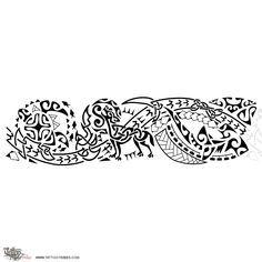 Tatuaggio di Poly-Celtic, Lupo e fuoco tattoo - custom tattoo designs on TattooTribes.com