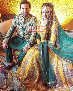 Photos of Grand And Royal Dresses For The Bride vepwtur - Jewelry Amor Pakistani Mehndi Dress, Bridal Mehndi Dresses, Pakistani Wedding Outfits, Pakistani Wedding Dresses, Walima Dress, Shadi Dresses, Bridal Outfits, Mehndi Outfit, Muslim Brides