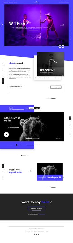 Cooxed digital agency production landing page design dribbble full