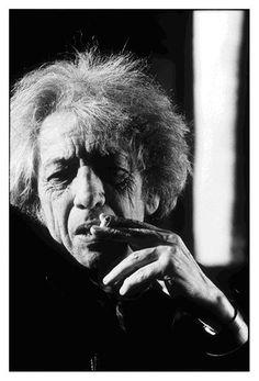 Photo: Jean-François Bérubé. Portrait de Jean Jean Paul Riopelle, octobre 1991,