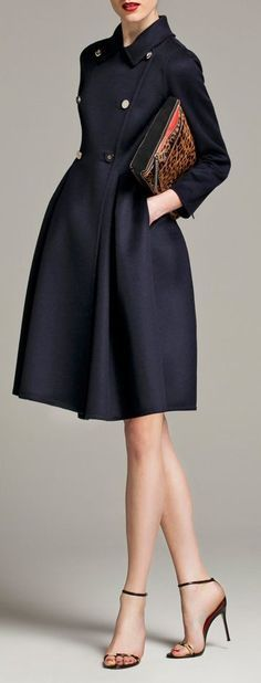 Navy Blue coat dress