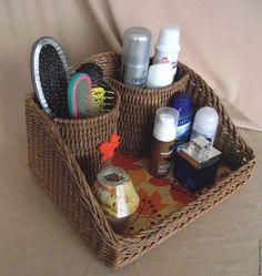 Купить Органайзер универсальный плетеный - коричневый, органайзер, органайзер для украшений, органайзер для косметики, прихожая, кухня