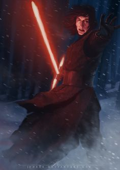 """A little Kylo Ren fanart for everyone's enjoyment~ <33333 I absolutely loved """"Star Wars the force awakens"""" If you haven't seen it, go do it now!"""