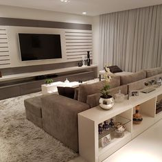 Living Room Partition Design, Living Room Sofa Design, Living Room Decor Cozy, New Living Room, Interior Design Living Room, Living Room Designs, Modern Home Interior Design, Home Room Design, Home Design Decor