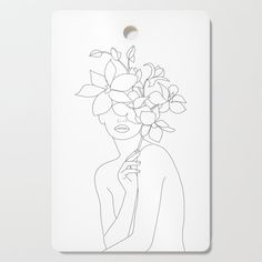 Minimal Line Art Woman with Orchids Poster by - Banish those blank walls: Posters are the most convenient way to bring rad art to your space. Line Drawing, Painting & Drawing, Art Sketches, Art Drawings, Afrique Art, Minimalist Drawing, Diy Frame, Female Art, Diy Art