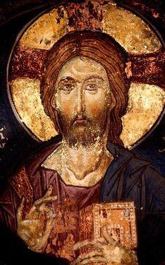 Byzantine Icons, Byzantine Art, Early Christian, Christian Art, Fresco, Christ Pantocrator, Images Of Christ, Jesus Art, Mystique