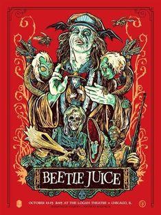 BROTHERTEDD.COM Beetlejuice Tattoo, Beetlejuice Movie, Beetlejuice Halloween, Halloween Pics, Tim Burton Style, Tim Burton Films, Fan Poster, Poster Prints, Art Prints