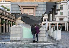alex chinneck levitates covent garden's market building in london